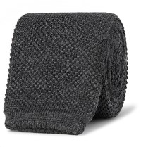 Paul Smith 6Cm Knitted Wool Tie Charcoal