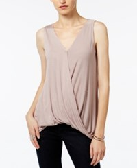 Bar Iii Draped Faux Wrap Top Only At Macy's Sphynx