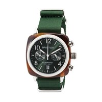 Briston Classic Chronograph Date Green Sunray Dial Multi