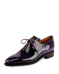 Arca Patent Leather Shoe Purple Corthay