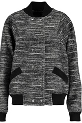 Proenza Schouler Suede Trimmed Cotton And Wool Blend Bomber Jacket