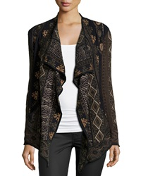 Biya Corty Long Sleeve Wrap Cardigan Black