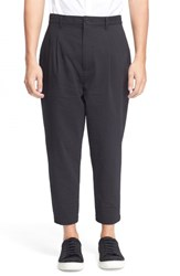 Men's Helmut Lang Seersucker Trousers Black
