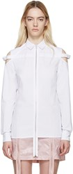 Hood By Air White Poplin Cut Out Shirt