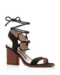 French Connection Jalena Lace Up Sandals Black