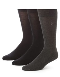 Polo Ralph Lauren Three Pack Bamboo Rayon Socks Assorted