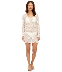 Ella Moss Stella Lace Tunic Cover Up Cream Women's Swimwear Beige