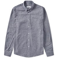 Ami Alexandre Mattiussi Button Down Chambray Shirt Blue