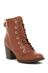 Rampage Justina Lace Up Boot Brown
