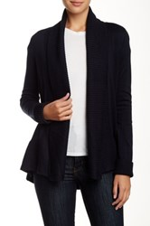 Premise Studio Long Sleeve Shawl Collar Cardigan Blue