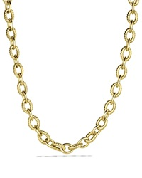 David Yurman Large Oval Link Necklace In Gold Yellow Gold
