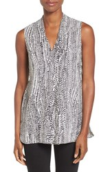 Nic Zoe Women's 'In Stitches' Print Sleeveless V Neck Top