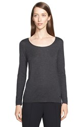 Women's Akris Cashmere And Silk Long Sleeve Pullover