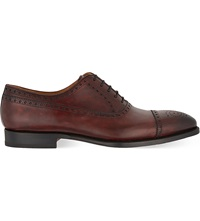 Magnanni Oxford Brogue Shoes Wine
