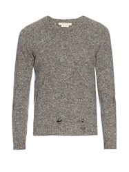 Marc Jacobs Olympia Distressed Wool And Cashmere Blend Sweater Grey