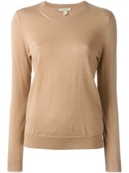Burberry Brit Elbow Patch Sweater Nude And Neutrals