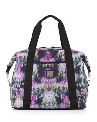 Nicole Miller City Life Printed Large Duffle Bag Canopy Black