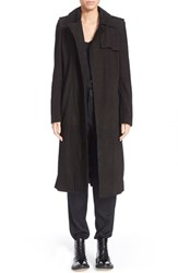Women's Anthony Vaccarello Suede Trench Coat