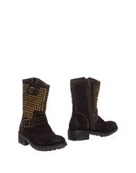 Bibi Lou Ankle Boots Dark Brown