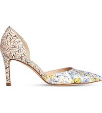 Lk Bennett Flossie Floral Print Leather Courts Pri Multi