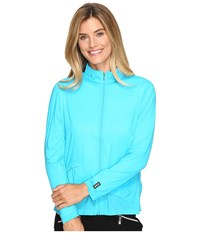 Jamie Sadock Sunsence Lightweight Jacket With Uvp 30 Curasao Women's Coat Blue