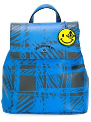 Vivienne Westwood Anglomania Check Print Backpack Blue