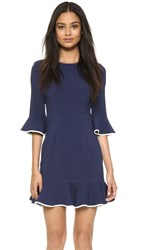 Black Halo Brooklyn Dress Navy White