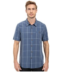 Quiksilver Slow And Steady Tailored Short Sleeve Woven Ensign Blue Men's Short Sleeve Button Up