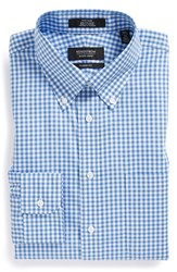 Men's Big And Tall Nordstrom Non Iron Classic Fit Gingham Dress Shirt Blue Bell