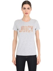 Juicy Couture Juicy Embellished Jersey T Shirt
