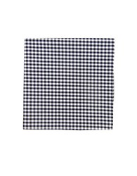The Tie Bar Gingham Checked Pocket Square Navy