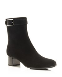 La Canadienne Side Zip Mid Heel Booties Black