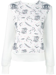 Olympia Le Tan Printed Jumper Pink And Purple
