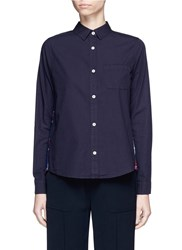 Clu Too Check Flannel Back Poplin Shirt Blue