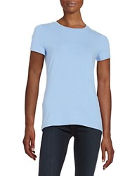 Lord And Taylor Petite Knit Crewneck Tee Hydrangea