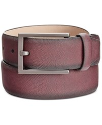 Alfani Men's Saffiano Finish Reversible Belt Only At Macy's Oxblood