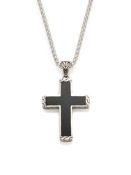 John Hardy Black Jade And Sterling Silver Pendant Necklace Silver Black