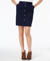 Tommy Hilfiger Jamie Button Front Skirt Only At Macy's Masters Navy