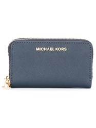 Michael Michael Kors 'Jet Set Travel' Continental Wallet Blue