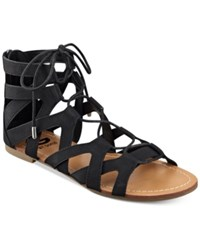 G By Guess Lookie Lace Up Gladiator Sandals Women's Shoes Black