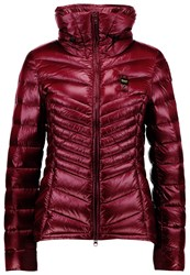 Blauer Down Jacket Bordeaux