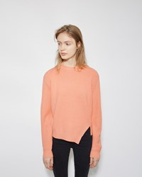 Proenza Schouler Side Slit Cashmere Blend Sweater Coral
