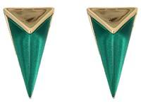 Alexis Bittar Faceted Pyramid Post Earrings Jungle Green Earring Olive
