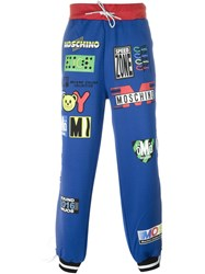 Moschino Racing Print Track Pant Blue