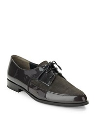 Paul Green Cache Suede And Leather Oxfords Grey