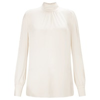 Ghost Tie Neck Lace Trim Blouse Ivory