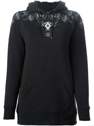 Marcelo Burlon County Of Milan Rose Print Hoodie Black