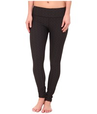 Prana Misty Legging Black Jacquard Women's Workout