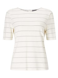 Phase Eight Samantha Stripe Top Ivory