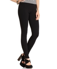 American Rag Seamed Ponte Knit Leggings Classic Black